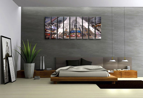 Xxl Large Great Big Canvas Wall Art Print New York Nasdaq Picture Contemporary