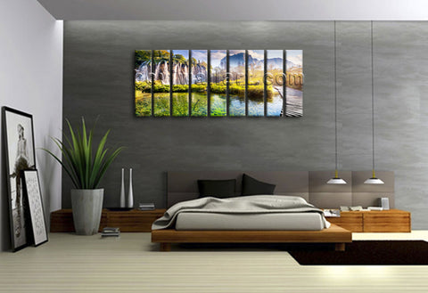 Large Landscape Waterfall Picture Print Canvas Wall Art Home Decor Ready To Hang