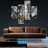 Large Cityscape Print New York Picture On Canvas Living Room Tetraptych Pieces