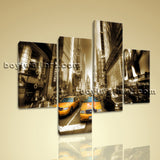 Large Cityscape Hd Print New York Canvas Art Wall Decor Living Room 4 Pieces