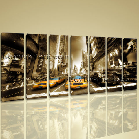 Xxl Large Wall Art Print Canvas New York Time Square  Home Decor Contemporary