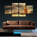 Large Canvas Painting Art Wall Dining Room 4 Pieces Giclee Print