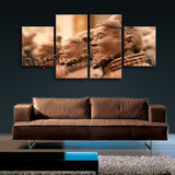 Large Architecture Wall Art Landmarks Hd Print On Canvas Dining Room Four Panels