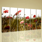 Large Contemporary Floral Wall Art Poppy Flower Canvas Print Home Decor Nersey