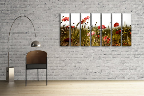 Extra Large Contemporary Floral Wall Art Poppy Flower Canvas Print Home Decor