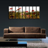 Xxl Large Contemporary Floral Wall Art Poppy Flower Canvas Print Home Decor