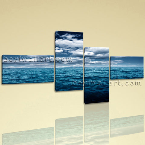 Large Stretched Single Panel Contemporary Seascape Wall Art Canvas Giclee Print