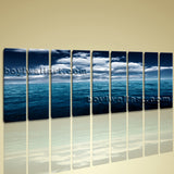Xxl Large Contemporary Seascape Wall Art Canvas Print Blue Sky Ocean Sunrise
