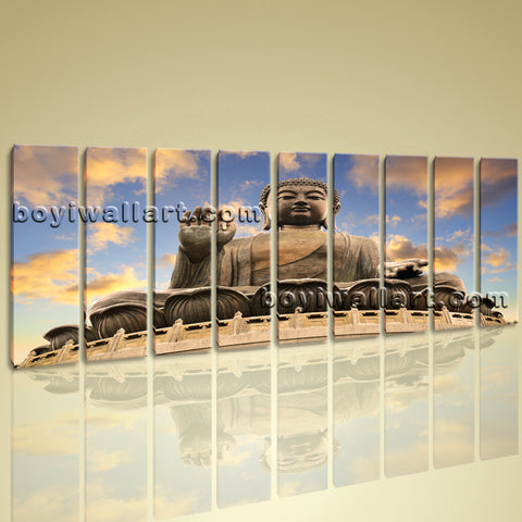 Extra Large Contemporary Home Room Decor Wall Art Print Canvas Feng Shui Buddha