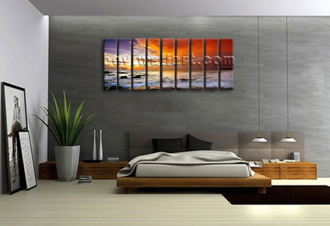 Xxl Large Contemporary Landscape Sunset Glow Home Decor Wall Art Prints Canvas