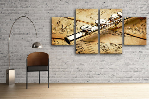 Large Abstract Picture Others Wall Decor Painting Dining Room 4 Pieces print