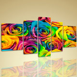 Xxl Large Contemporary Home Decor Canvas Print Colorful Wall Art Abstract Floral