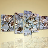 Xxl Large Contemporary Abstract Floral Flower Blossom Tree Wall Print Canvas