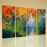 Large Autumn Paintings Landscape Contemporary Wall Art Giclee Printed On Canvas