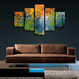 Large Autumn Paintings Landscape Contemporary On Canvas Print Wall Dining Room
