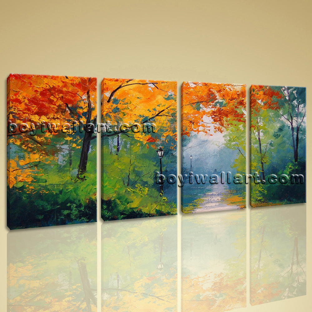 Large Autumn Paintings Landscape Contemporary Wall Art HD Giclee Print BedRoom