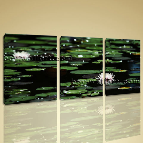 Large Lily Flower Floral Impressionism Wall Art Printed On Canvas Living Room