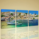 Large Greece Symi Landscape Photography Home Decor Wall Art Print Living Room