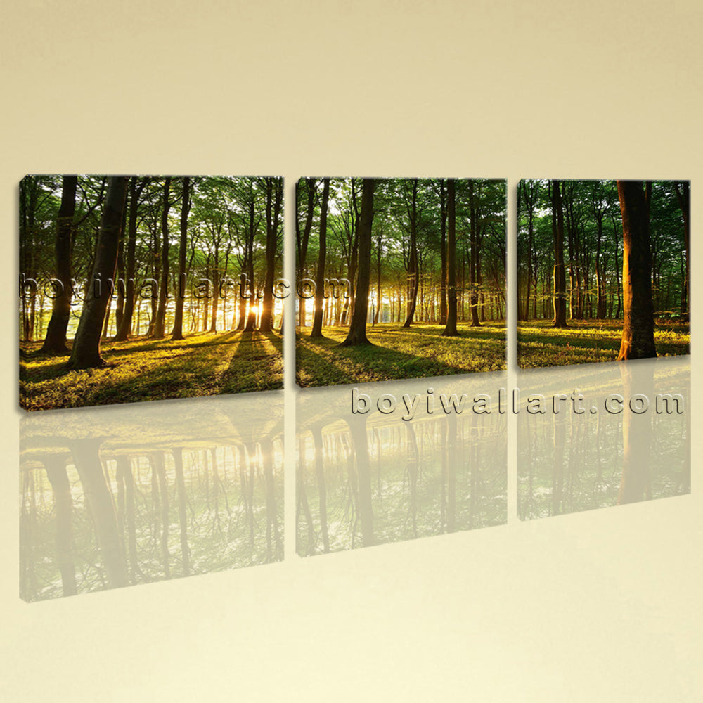 Large Beautiful Forest Landscape On Canvas HD Giclee Print Wall Art BedRoom