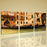 Large Gondola Ride Landscape On Canvas Wall Art Print Living Room Three Pieces