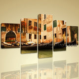 Large Gondola Ride Landscape Photography Wall Art HD Giclee Print Dining Room
