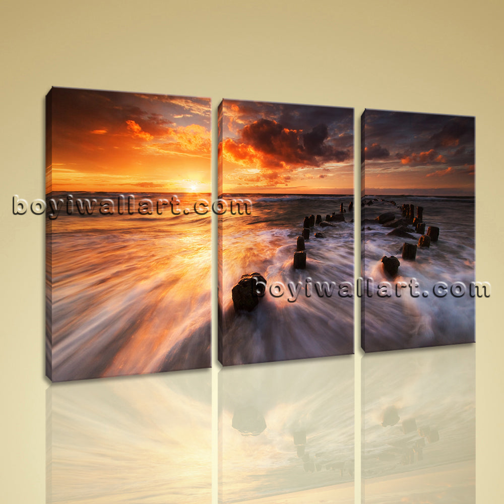 Large Beautiful Sunset Landscape Photography Home Decor Wall Art Print BedRoom