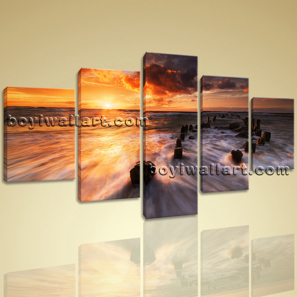 Large Beautiful Sunset Landscape Home Decor Wall Art HD Giclee Print Dining Room