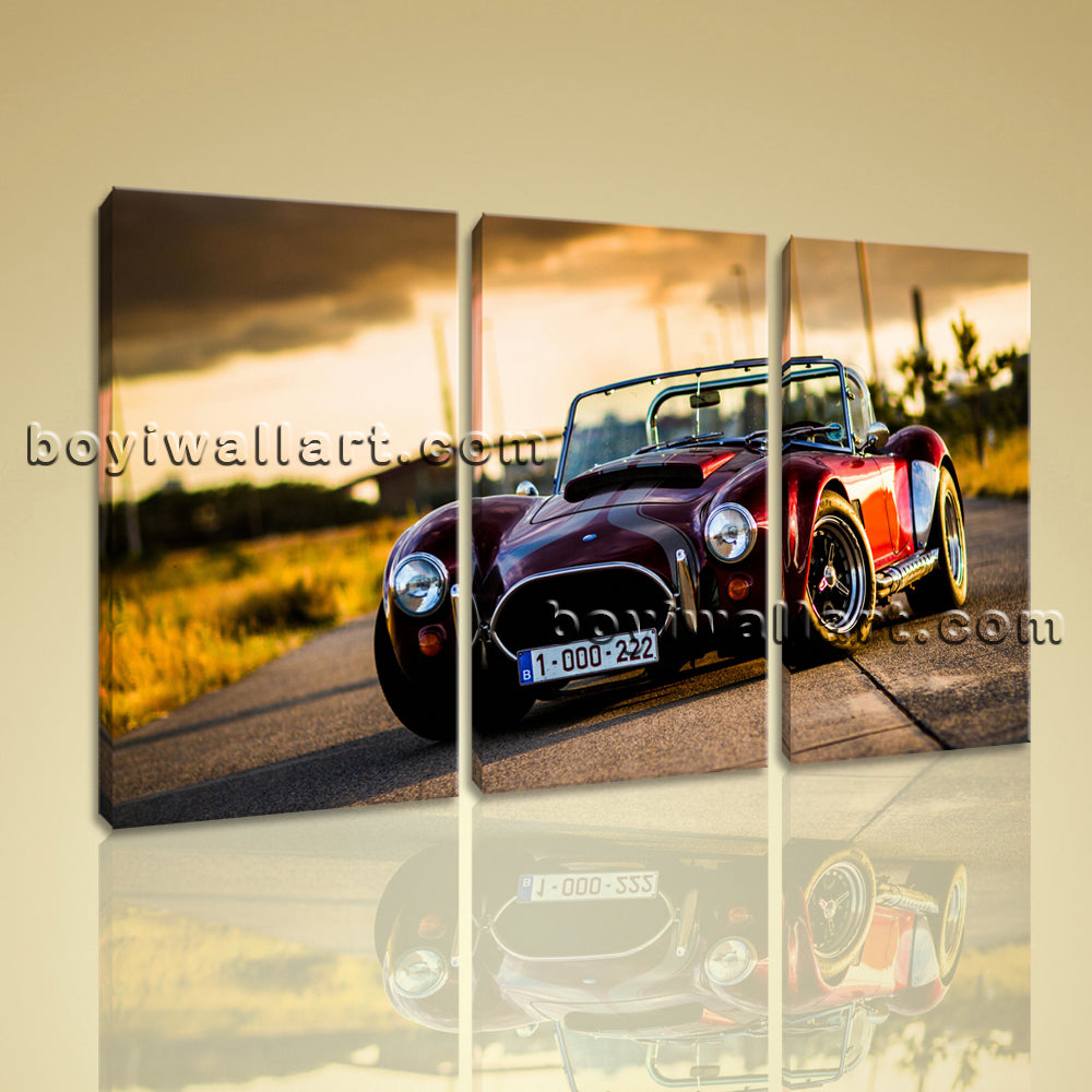 Large Cobra Classic Car Other On Canvas Print Wall Home Decor 1 Panels Giclee