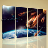 Large Asteroid Hit Eart Other Photography On Canvas Wall Art Decor Living Room