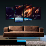 Large Asteroid Other Photography Wall Art Giclee Printed On Canvas Living Room