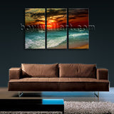 Large Fine Dawn On Island Bali Landscape Wall Art Giclee Print On Canvas BedRoom