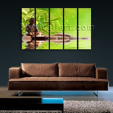 Large Buddha Zen Feng Shui Contemporary Wall Art Printed On Canvas Dining Room