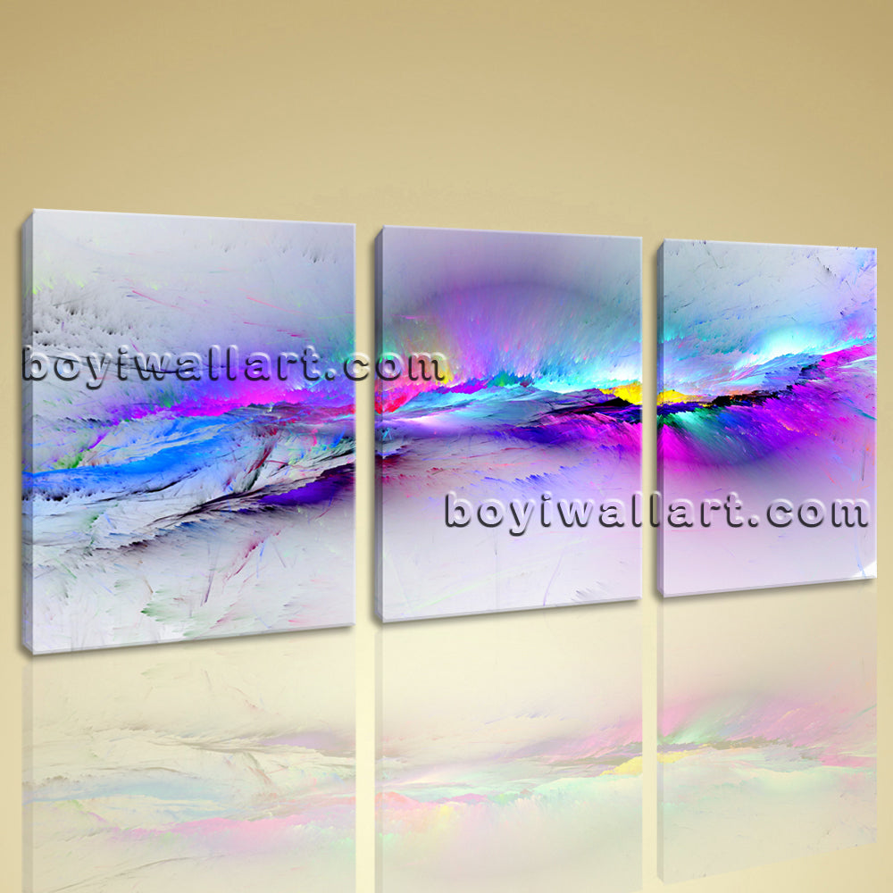 Large Fancy Paint Abstract Modern Printed On Canvas Living Room 1 Pieces Print