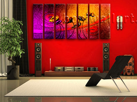 Extra Large Abstract Flower Floral Modern Painting Printed On Canvas Living Room