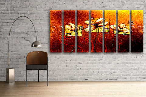 Extra Large Abstract Acrylic Flower Paintings Floral Modern Wall Art On Canvas