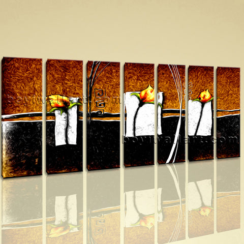 Extra Large Abstract Flower Floral Modern Home Decor Wall Art Print Living Room