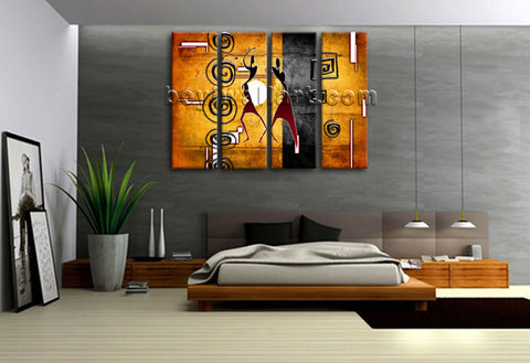 Large Vintage African Ethnic Figure Retro Home Decor Wall Art Print Living Room