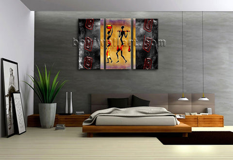Large Vintage African Ethnic Figure Retro On Canvas Wall Art Home Decor BedRoom