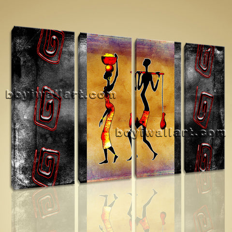 Large Vintage African Ethnic Figure Retro Wall Art HD Giclee Print Living Room