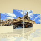 Large Eiffel Tower Landmarks Painting Art Dining Room 4 Pieces Canvas Print