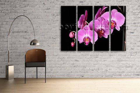 Large Orchid Flower Floral Modern Painting Giclee Printed On Canvas Living Room
