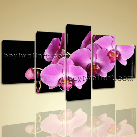 Large Orchid Flower Floral Modern On Canvas HD Giclee Print Wall Art Dining Room