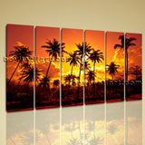 Large Coconut Palms Landscape Photography On Canvas Wall Art Decor Living Room