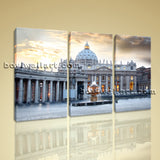 Large Basilica Rome Italy Cityscape Photography Canvas Print Decorative Wall Art