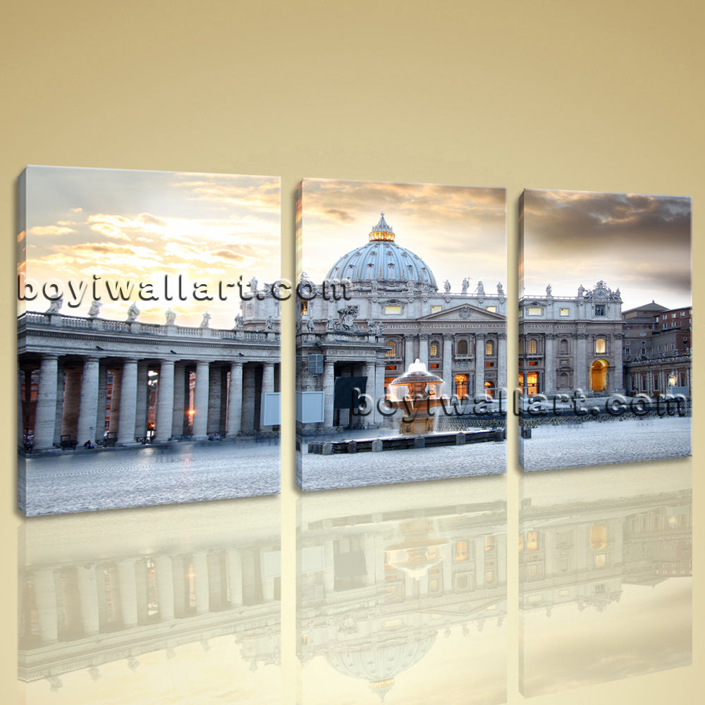 Large Basilica Di San Pietro Cityscape Photography Wall Art Print Living Room