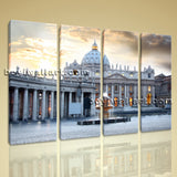 Large Basilica Di San Pietro Cityscape Wall Art Print On Canvas Living Room
