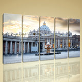 Large Basilica Rome Italy Cityscape Photography Wall Art Print Dining Room