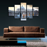 Large Basilica Di San Pietro Cityscape On Canvas Print Artwork Dining Room