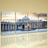 Large Basilica Di San Pietro Cityscape Photography Canvas Print Wall Art BedRoom