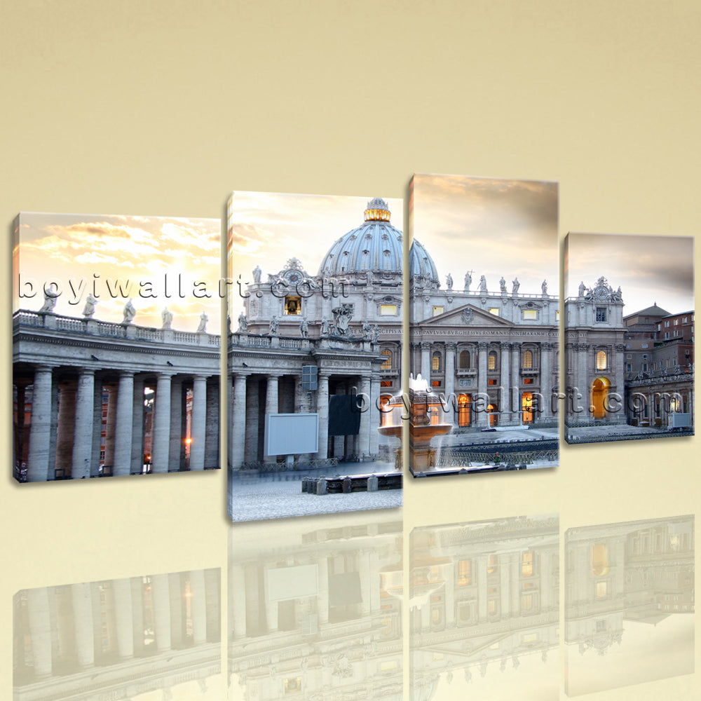 Large Basilica Rome Italy Cityscape On Canvas Wall Art Home Decor Living Room